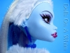 Mattel Monster High doll Abbey Abby Bominable School Outfit profile face earring ice shard
