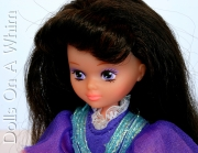Mattel Lady Lovely Locks LovelyLocks Duchess RavenWaves doll makeup face